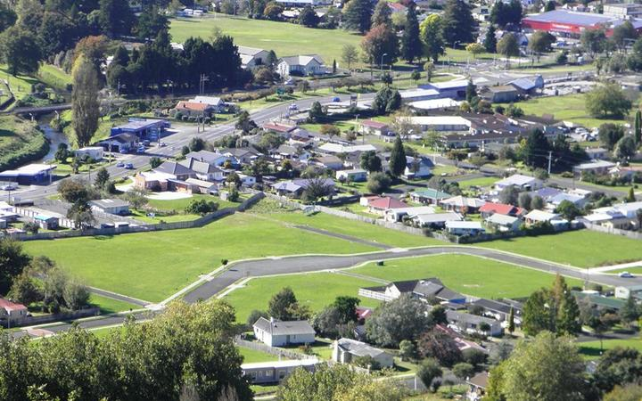 Houses in Parkside,Te Kuiti, in Waitomo District.