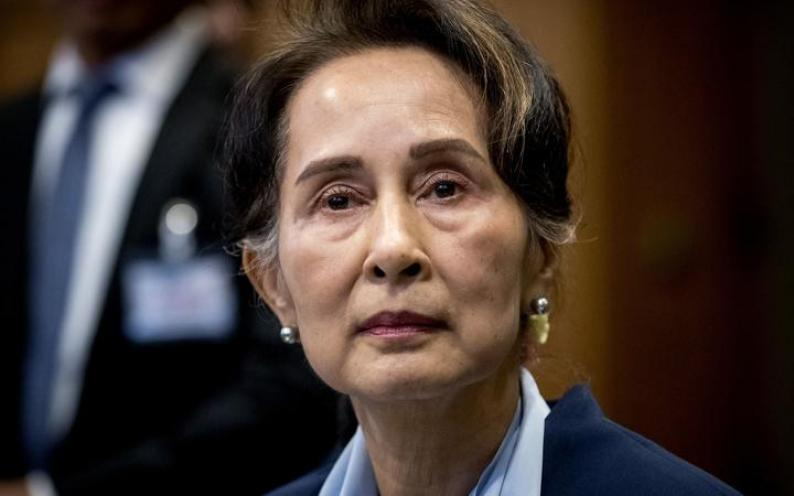 file photograph taken on December 11, 2019, of Myanmar's State Counsellor Aung San Suu Kyi