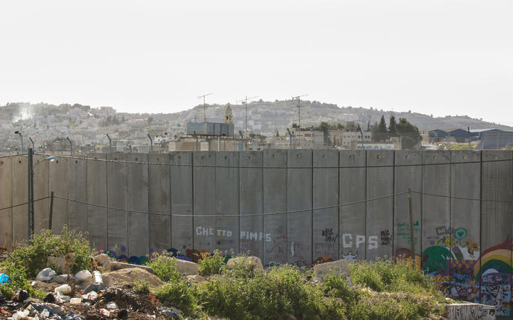 The West Bank Wall between Israel and Palestine.