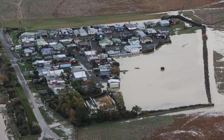 Flooding at Selwyn Huts, Canterbury.