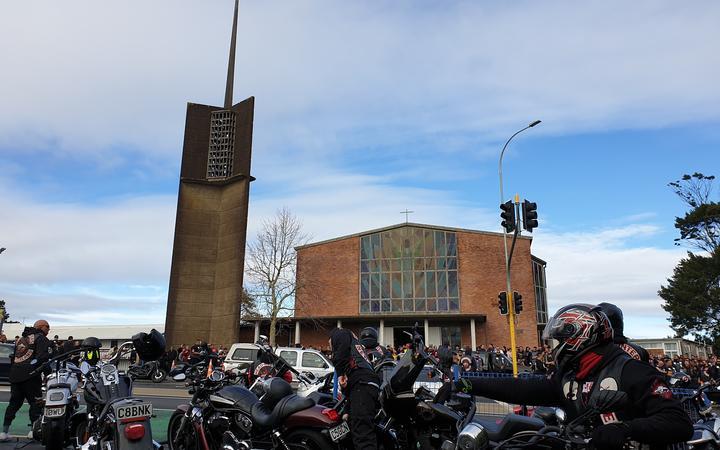 Head Hunters gang funeral at St Joseph's Catholic Church in Grey Lynn.