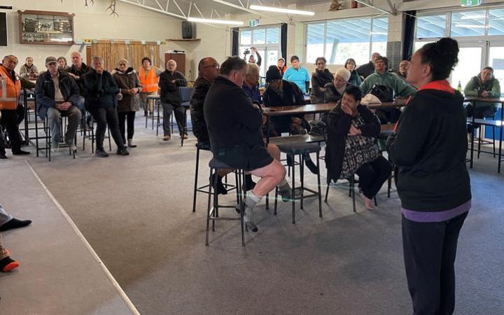 Gisborne community leaders met with residents this morning to discuss the flood clean up,