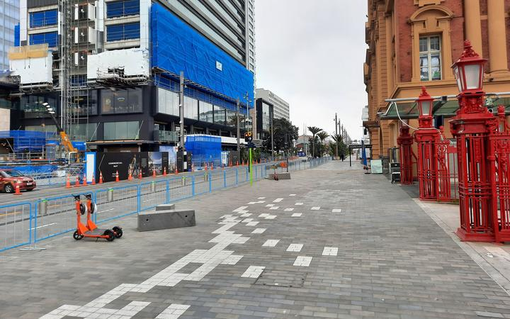 Central Auckland at midday on 27 August.