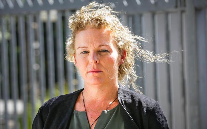Filipa Payne outside the Australian High Commission in Wellington