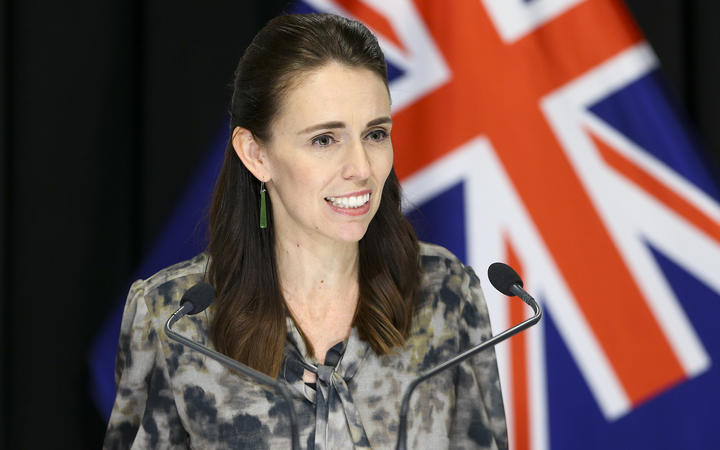 Prime Minister Jacinda Ardern speaks to media during a press conference at Parliament on April 02, 2020 in Wellington, New Zealand.