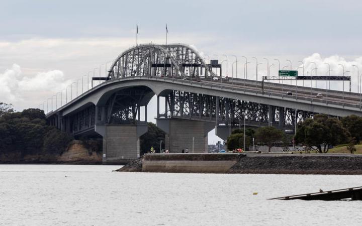 Auckland's Harbour Bridge during the Covid-19 alert level four lockdown.