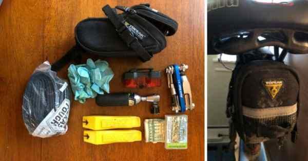 bike seat bag contents