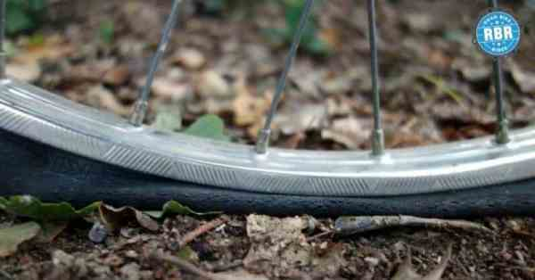 flat bicycle tire