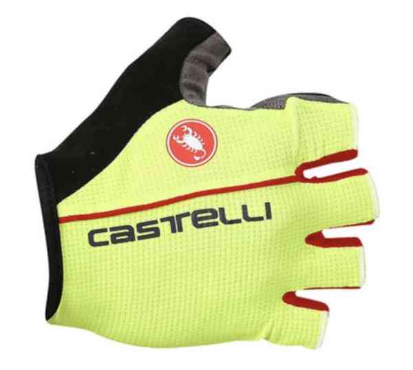circuito fluorescent yellow cycling gloves
