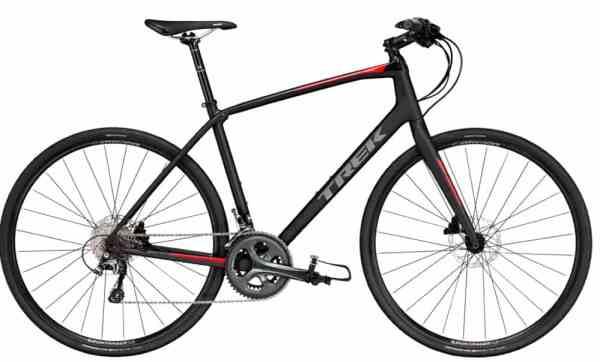 Trek fast hybrid road bike with flat bars