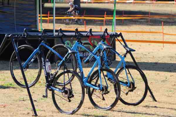 parked cyclocross bicycles