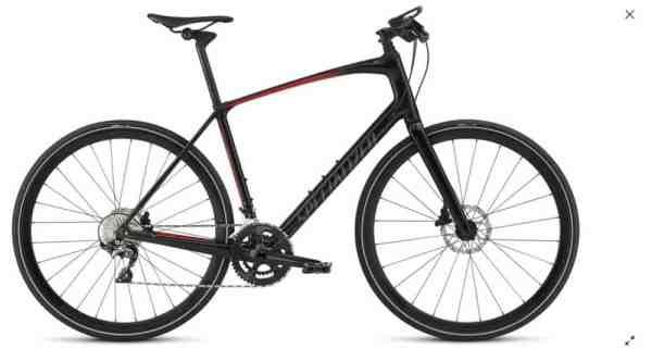 specialized hybrid road bike flat bars carbon fiber