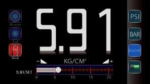 iGauge app display for shocks