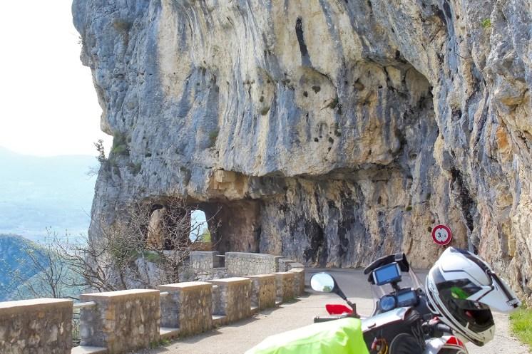 In moto nel Vercors, la Route du Vertige