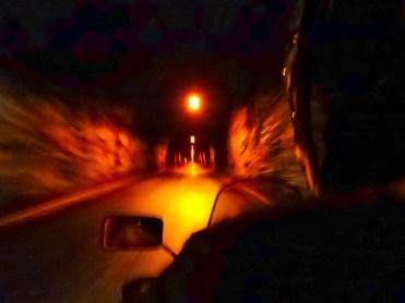 Capo Nord in moto, il tunnel verso Nordkapp