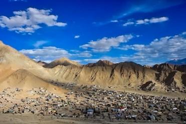 Ladakh in moto con Vedett Mototours, panoramica di Leh