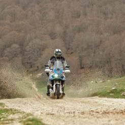 Strade bianche in Toscana Africa Twin
