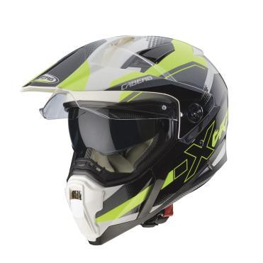 casco-caberg-xtrace-spark-bianco-antracite-giallo-fluo