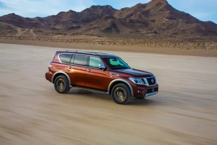 With the introduction of the all-new second-generation Armada full-size SUV, arriving at Nissan dealers nationwide in mid-2016, the last piece of Nissan's transformation of its SUV and crossover lineup falls into place. As the largest and most powerful vehicle in the portfolio, Armada earns its flagship status by every measure – whether performance, refinement, advanced technology and even heritage. Unlike the original Armada, which was based on the Nissan Titan full-size pickup, the new-generation design traces back to one of Nissan's most beloved global vehicles, the Patrol.