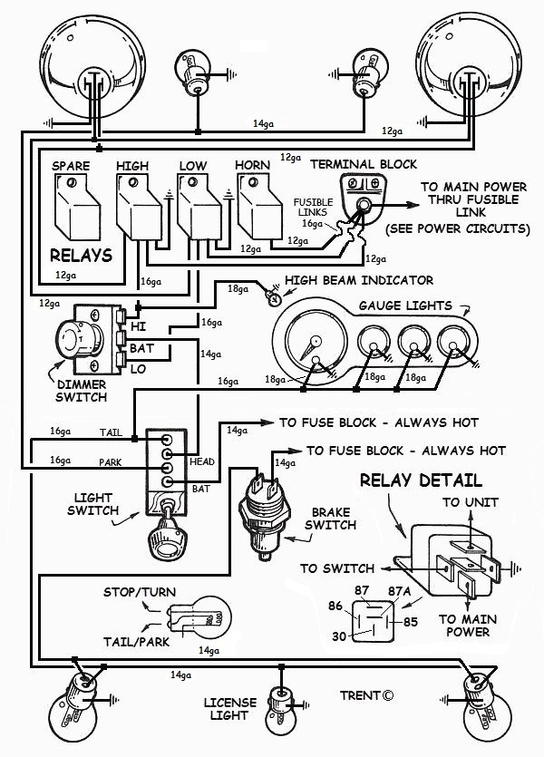 hot rod turn signal wiring diagram wiring diagram aftermarket turn signal switch wiring diagram servo reverser