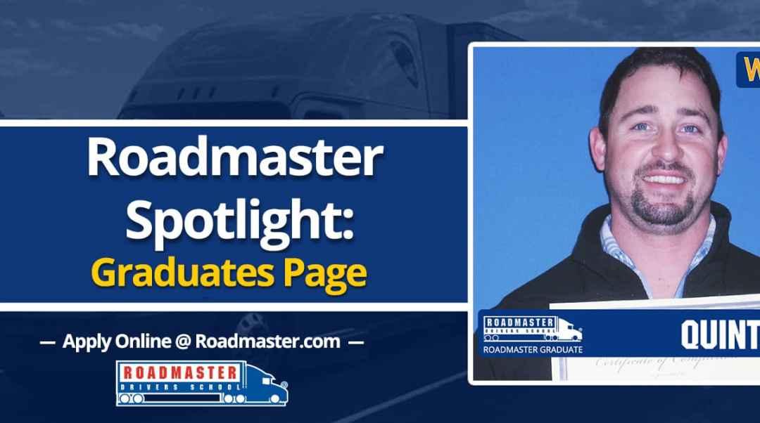 Roadmaster Spotlight: Graduates Page