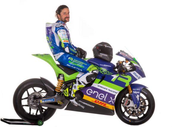 Team Gresini MotoE rider Andrea Mantovani (9). Photo courtesy Gresini Racing.