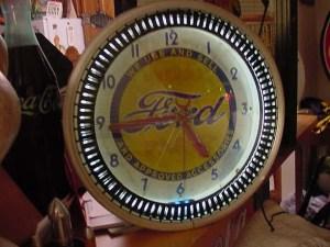 "Ford neon clock ""SOLD"", Vintage Advertising Neon Clocks"