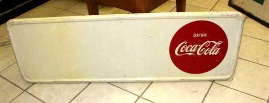 Vintage Metal Signs // Coca Cola w Privelage Panel