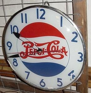 Vintage Pepsi clock Telechron, Vintage Advertising Neon Clocks