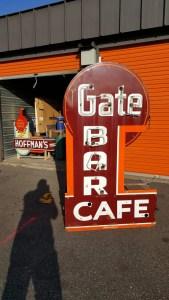 Bar Cafe Gate porcelain neon vintage sign...Vintage Signs for sale Darryl Tilden, Vintage signs, Old signs, Antique signs, Original Signs