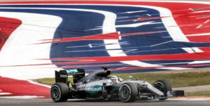 October 23, 2016 - Lewis Hamilton, Mercedes AMG Petronas,(44) takes turn 19 during the 2016 Formula 1 United States Grand Prix at the Circuit of the Americas held in Austin, Tx., on Sunday, Oct. 23, 2016. Lewis Hamilton, Mercedes AMG Petronas, (44) won his second consecutive United States Grand Prix ahead of second place, Daniel Ricciardo, Red Bull Racing, (3) and teammate, Nico Rosberg, Mercedes AMG Petronas, (6). (AUSTIN AMERICAN-STATESMAN / Rodolfo Gonzalez)