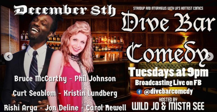 Dive Bar Comedy December 8th
