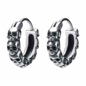 Boucles d'oreilles anneaux crâne Roadstrap