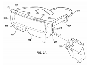 an Apple patent displaying a phone-based head mounted display