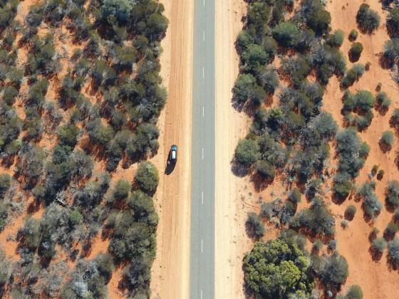 Along the long dusty roads
