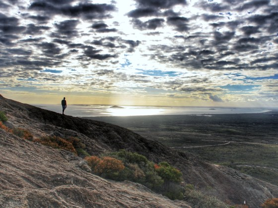 Standing at the top of Frenchman Peak looking out over Cape Le Grand and the Recherche Archipelago