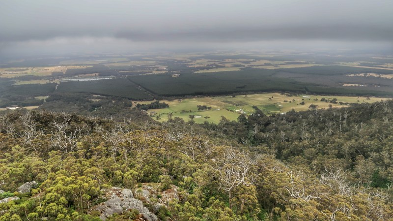 Looking out over the Porongurup National Park