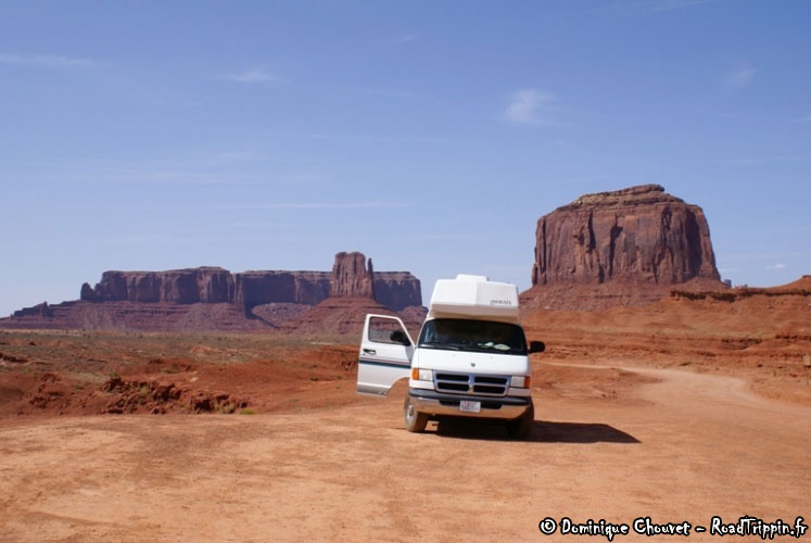 Camping-car à Monument Valley