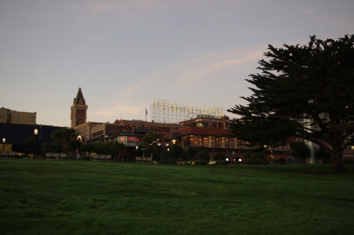 Ghirardelli - Exploring San Francisco at dawn - learn more on Road Trips around the World - www.RoadTripsaroundtheWorld.com