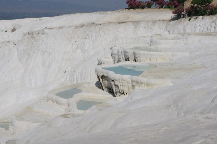Bathing in Pamukkale, Turkey - An incredible experience and a must see when on a road trip in Turkey - www.RoadTripsaroundtheWorld.com