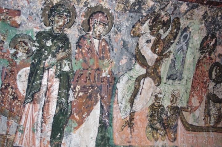 Soganly valley - church black best - karabas Kilise-ceiling detail