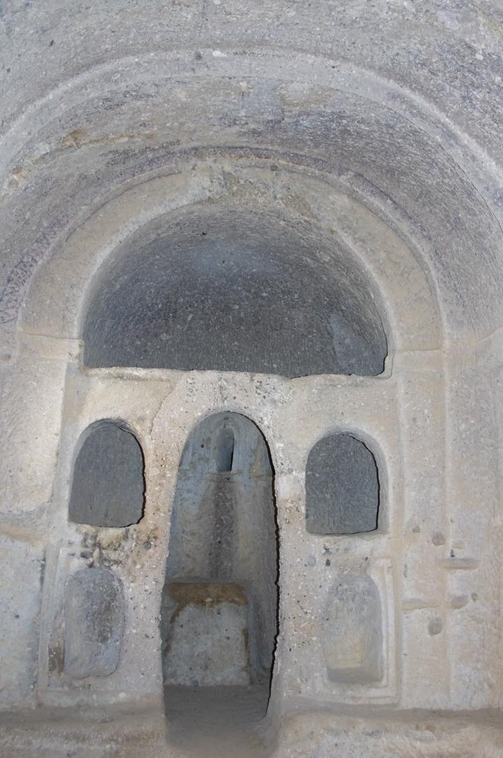 Soganly valley - church with deer - Geyikli kilise altar