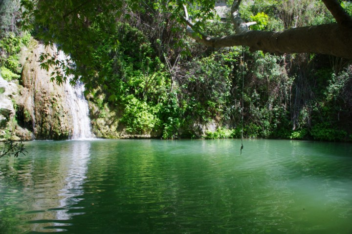 Adonis Baths - Cyprus-main pool and waterfall