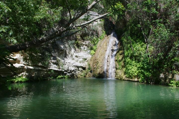 Adonis Baths - Cyprus - main pool waterfall rope
