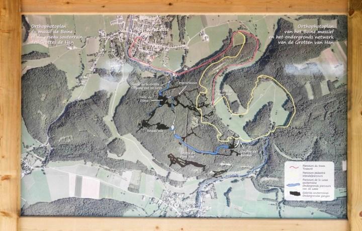 Caves Han - Belgium-map