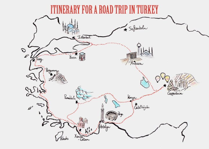 Itinerary for a road trip in Turkey