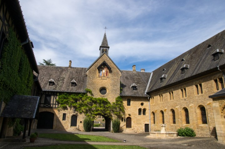 ORVAL- Belgium - non accessible entrance court yard