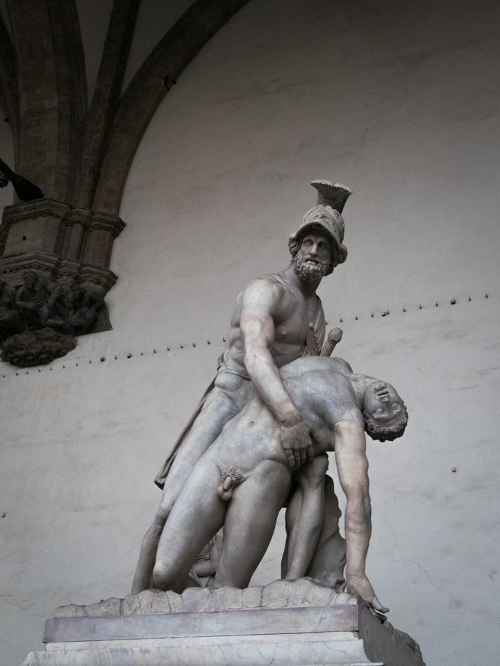 Florence - Firenze - Italy - piazza della Signoria - Loggia dei Lanzi