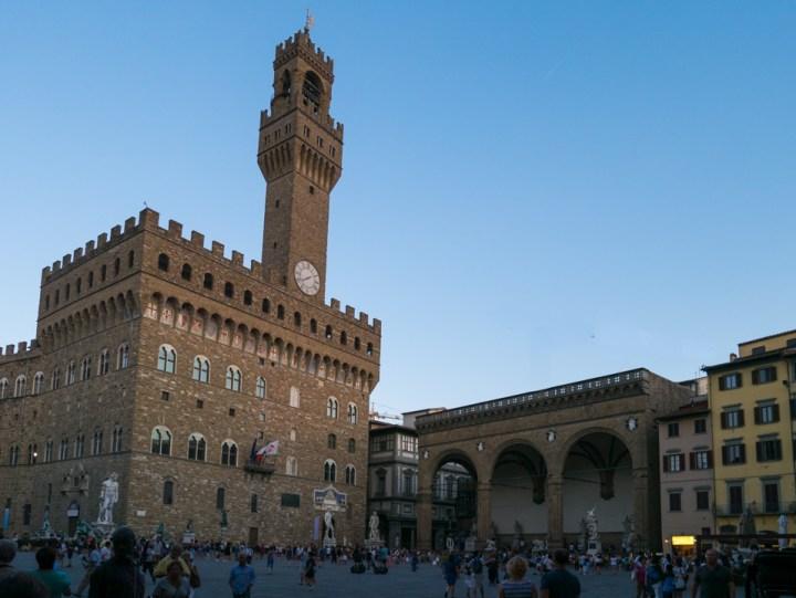 Florence - Firenze - Italy - piazza della Signoria - palazzo Vecchio