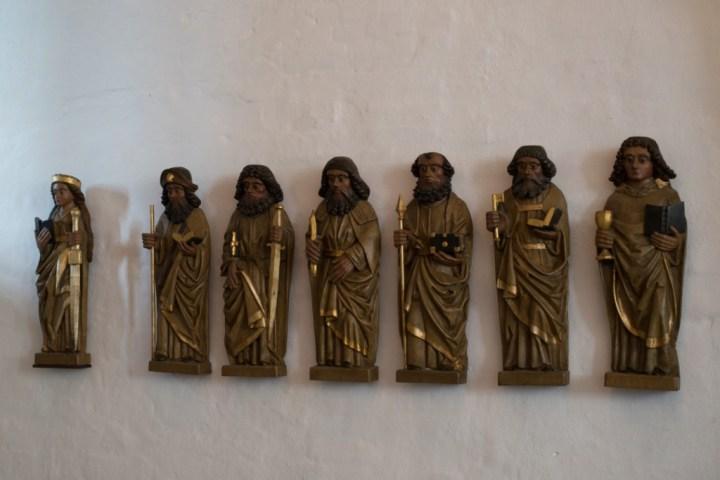 Jelling stones - Danemark - inside church detail